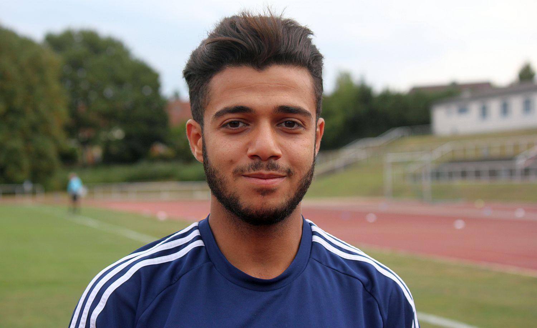 Angreifer Ayham Almalla trifft in Ahlbeck zum 1:0-Endstand