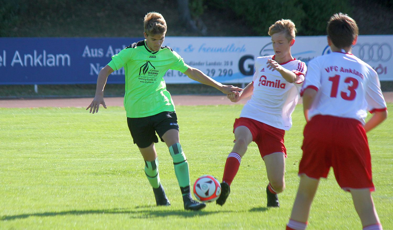 C1-Junioren schließen die Landesliga-Saison mit Derbysieg gegen Wolgast ab