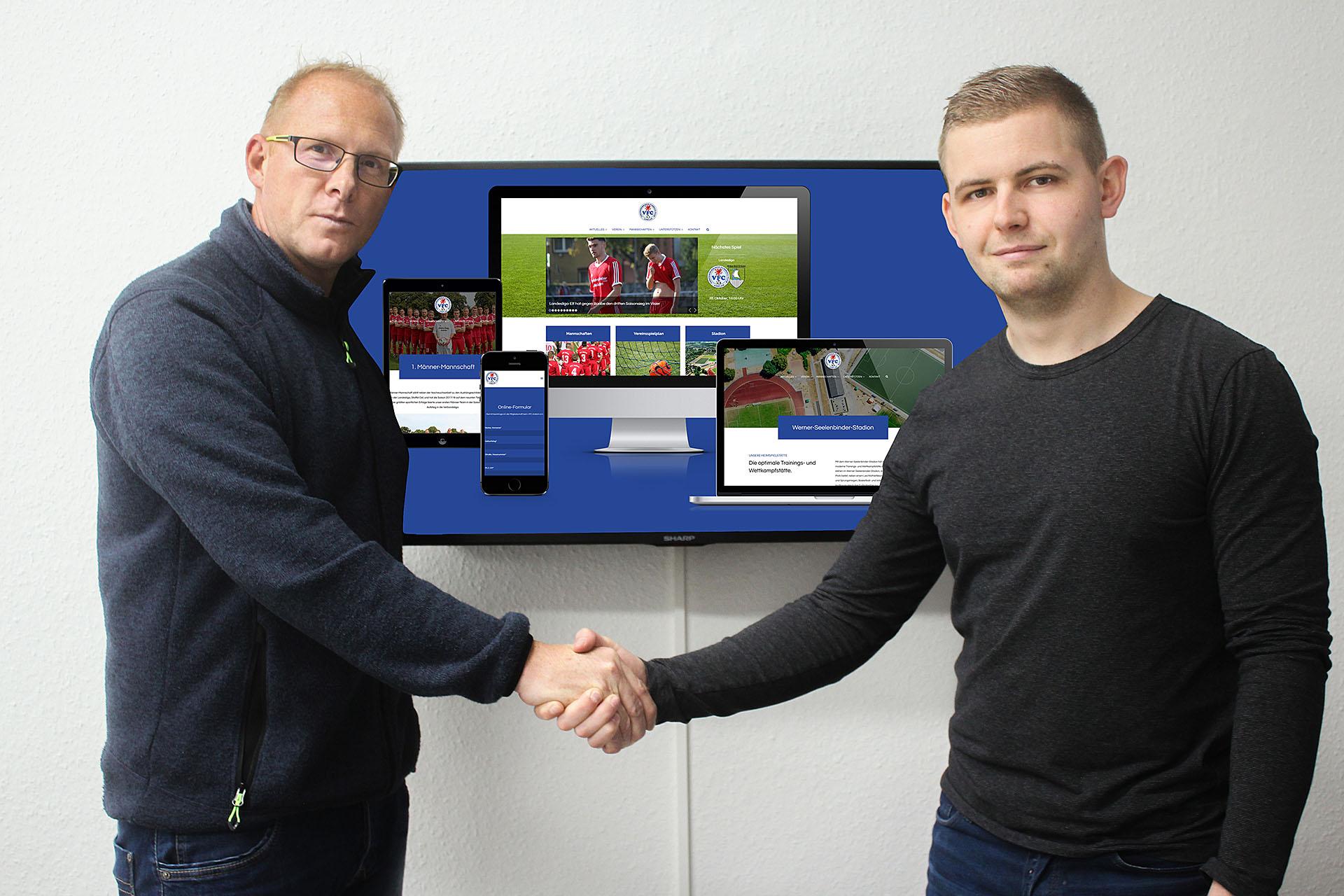 Werbeagentur JUNGSPUND DESIGN lässt Online-Auftritt des VFC in neuem Glanz erstrahlen