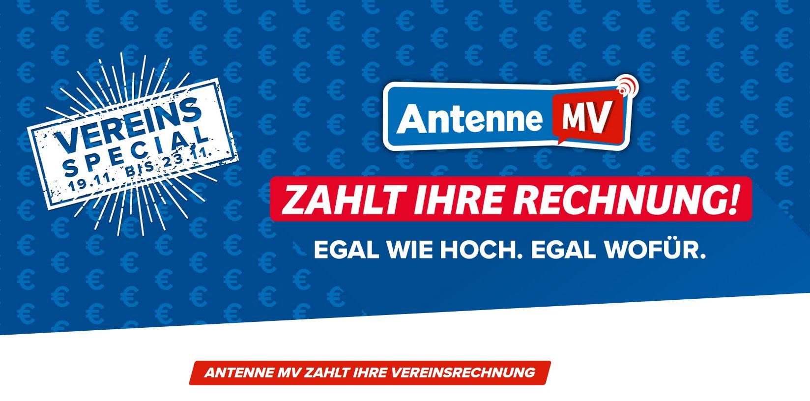 """Gut aufpassen! Unser Club ist bei Antenne MV-Aktion """"Wir zahlen Ihre Vereinsrechnung!"""" im Lostopf"""