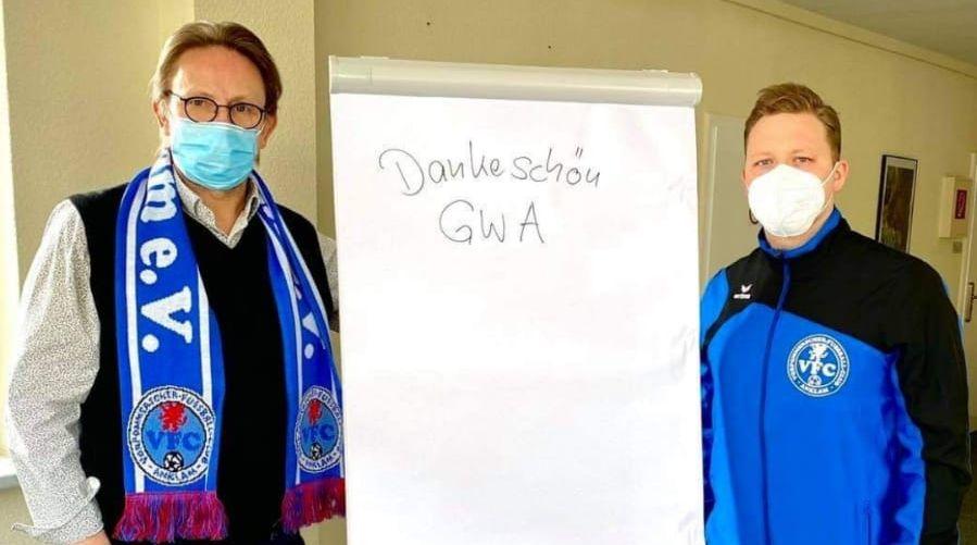 GWA Anklam spendiert unserem Club neues Flipchart