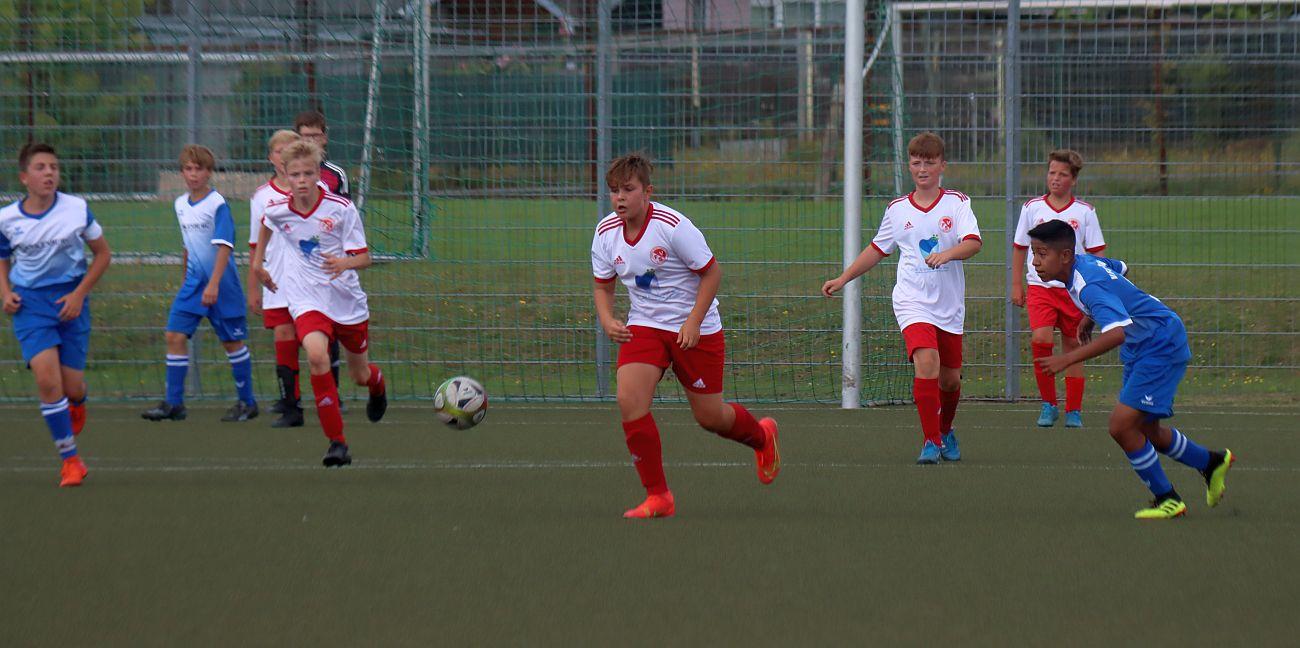 C-Junioren gewinnen Vorbereitungsspiel klar mit 8:0