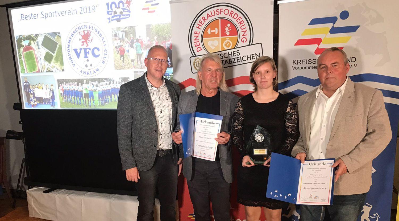 """Auszeichnung: Unser Club ist der """"Beste Sportverein des Jahres 2019"""""""