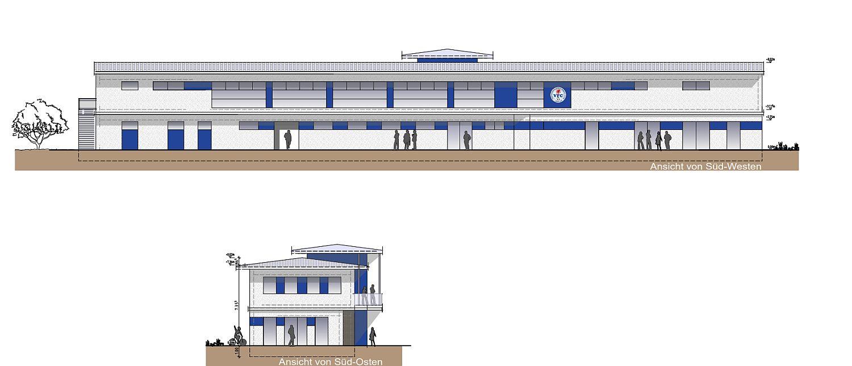 So soll das neue Multifunktionsgebäude aussehen